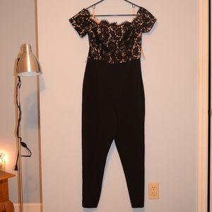 Eliza J Dresses - Eliza J Lace Jumpsuit Size 10